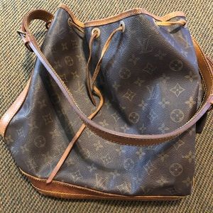 Louis Vuitton brown monogram leather bucket